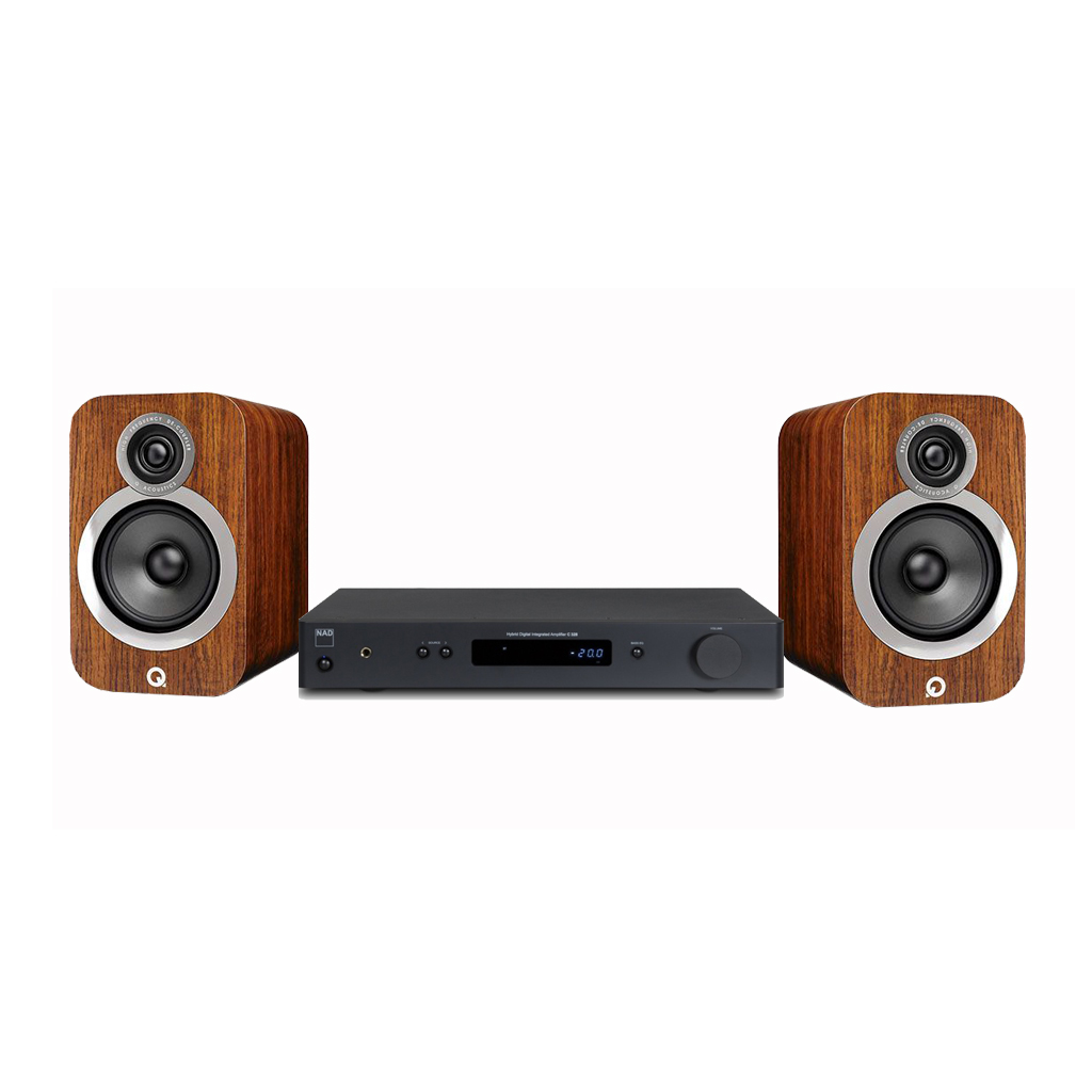 Dàn Âm Thanh Nghe Nhạc Loa Bookshelf Q Acoustics 3020i & Ampli Nad C328